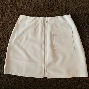 forever 21 white mini skirt